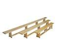 Ławka gimnastyczna 2,5 m nogi drewniane