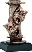 Statuetka ( figurka ) odlewana Teatr RF3441/BR