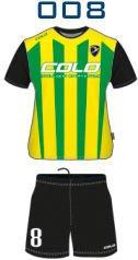 Komplet piłkarski sublimowany Colo  Bolt