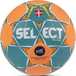 Piłka ręczna Select Mundo zielono-pomarańczowa